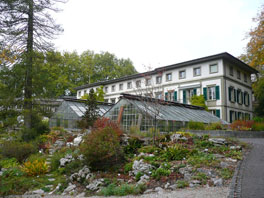 Alpinum Amerikanische Gebirge, Kleine Schauhäuser, Hauptgebäude Institut
