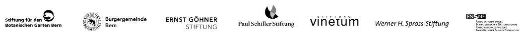"""Logo der Unterstützer und Förderer der Ausstellung """"Botanik in Bewegung - Humboldts Expeditionen"""""""
