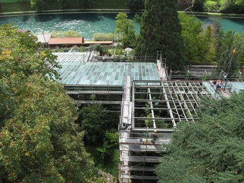 Glasdächerersetzung bei den grossen Schauhäusern (2012)
